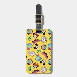 Mickey & Minnie | Super Hero Pop Pattern Bag Tag