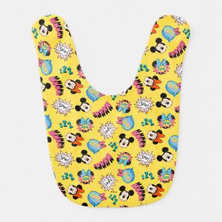 Mickey & Minnie | Super Hero Pop Pattern Bib