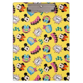 Mickey & Minnie | Super Hero Pop Pattern Clipboard