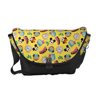 Mickey & Minnie | Super Hero Pop Pattern Courier Bag