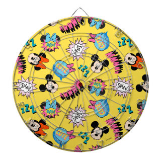 Mickey & Minnie | Super Hero Pop Pattern Dartboard With Darts