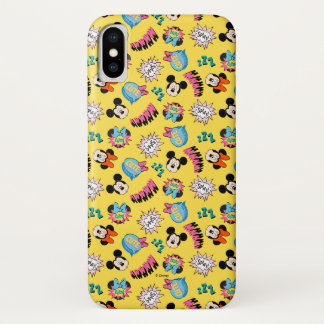 Mickey & Minnie | Super Hero Pop Pattern iPhone X Case