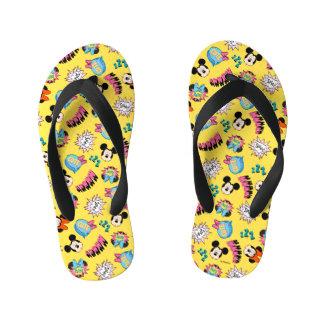 Mickey & Minnie | Super Hero Pop Pattern Kid's Flip Flops