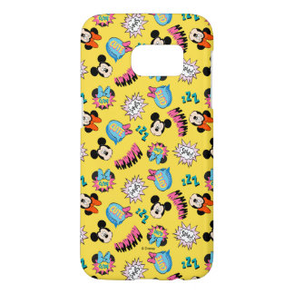 Mickey & Minnie | Super Hero Pop Pattern Samsung Galaxy S7 Case