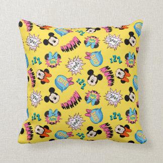 Mickey & Minnie | Super Hero Pop Pattern Throw Pillow