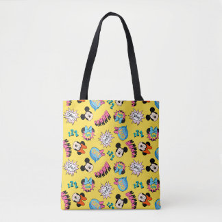 Mickey & Minnie | Super Hero Pop Pattern Tote Bag