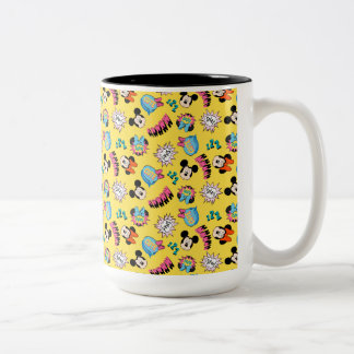 Mickey & Minnie | Super Hero Pop Pattern Two-Tone Coffee Mug