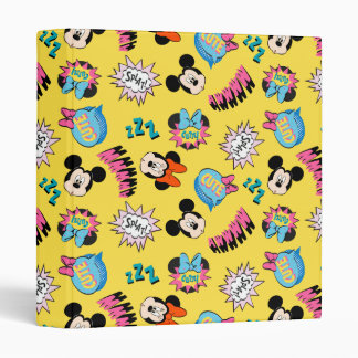 Mickey & Minnie | Super Hero Pop Pattern Vinyl Binders