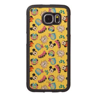 Mickey & Minnie | Super Hero Pop Pattern Wood Phone Case