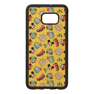 Mickey & Minnie | Super Hero Pop Pattern Wood Samsung Galaxy S6 Edge Case