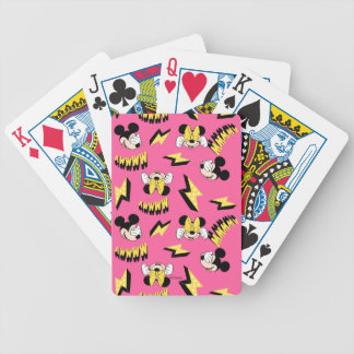 Mickey & Minnie | Super Hero Power Pattern Bicycle Playing Cards