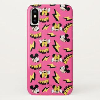 Mickey & Minnie | Super Hero Power Pattern iPhone X Case