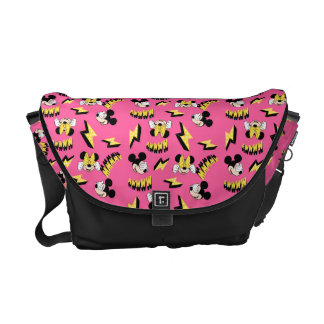 Mickey & Minnie | Super Hero Power Pattern Messenger Bag