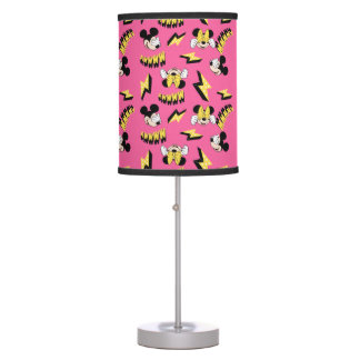 Mickey & Minnie | Super Hero Power Pattern Table Lamps