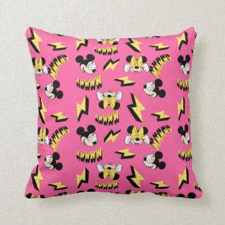 Mickey & Minnie | Super Hero Power Pattern Throw Pillow