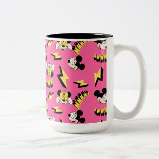Mickey & Minnie | Super Hero Power Pattern Two-Tone Coffee Mug