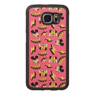 Mickey & Minnie | Super Hero Power Pattern Wood Phone Case