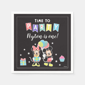 Mickey & Minnie   Time to Party Disposable Napkins