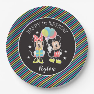 Mickey & Minnie | Time to Party Paper Plate