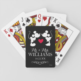 Mickey & Minnie Wedding Poker Deck