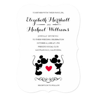 Mickey & Minnie Wedding | Silhouette Invitation