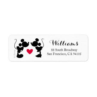 Mickey & Minnie Wedding | Silhouette Return Address Label