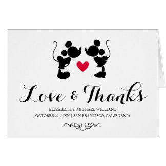 Mickey & Minnie Wedding | Thank You Card