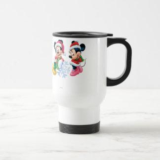 Mickey & Minnie With Snowflake Mugs