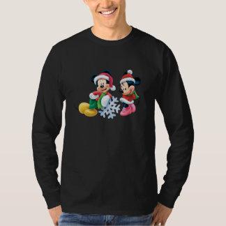 Mickey & Minnie With Snowflake Tshirt