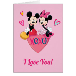 Mickey & Minnie | XOXO Valentine Card