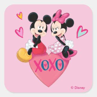 Mickey & Minnie | XOXO Valentine Square Sticker