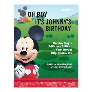 """Mickey Mouse Birthday Invitation 4.25"""" X 5.5"""" Invitation Card"""