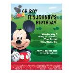 Mickey Mouse Birthday Invitation Announcement