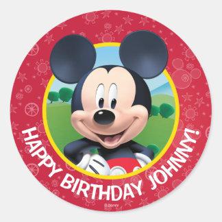 Mickey Mouse Birthday Round Sticker