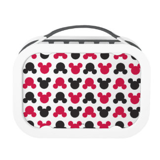 Mickey Mouse | Black and Red Pattern Lunch Boxes