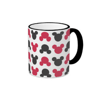 Mickey Mouse   Black and Red Pattern Ringer Coffee Mug