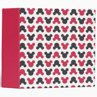 Mickey Mouse | Black and Red Pattern Vinyl Binders