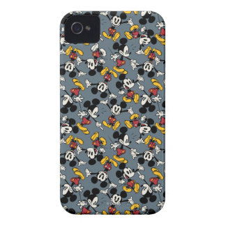 Mickey Mouse Blue Crowd Pattern iPhone 4 Cases