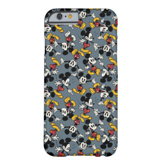 Mickey Mouse Blue Pattern Barely There iPhone 6 Case