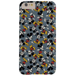 Mickey Mouse Blue Pattern Barely There iPhone 6 Plus Case