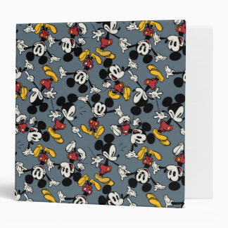 Mickey Mouse Blue Pattern Binder