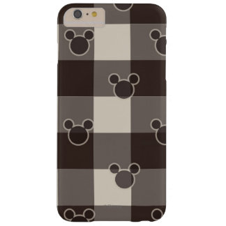 Mickey Mouse | Brown Plaid Pattern Barely There iPhone 6 Plus Case