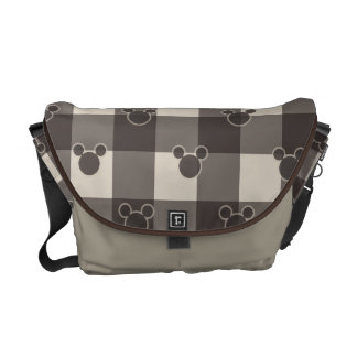 Mickey Mouse | Brown Plaid Pattern Commuter Bags