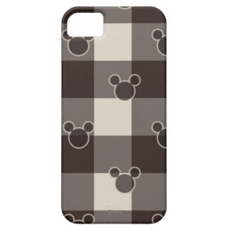 Mickey Mouse | Brown Plaid Pattern iPhone 5 Case