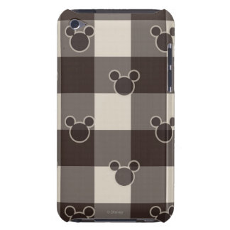Mickey Mouse | Brown Plaid Pattern iPod Case-Mate Case