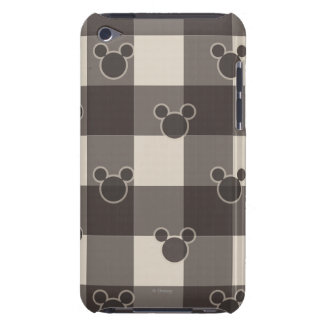 Mickey Mouse | Brown Plaid Pattern iPod Touch Cover