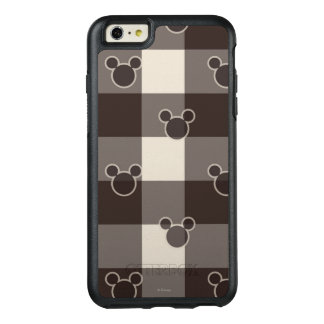 Mickey Mouse   Brown Plaid Pattern OtterBox iPhone 6/6s Plus Case