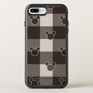 Mickey Mouse   Brown Plaid Pattern OtterBox Symmetry iPhone 7 Plus Case