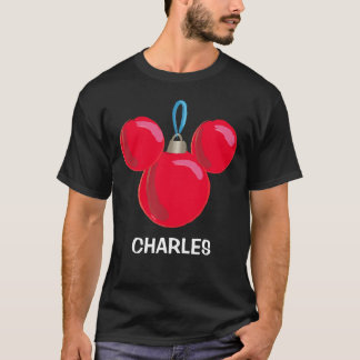 Mickey Mouse Christmas Ornament - Name T-Shirt