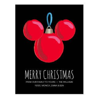Mickey Mouse Christmas Ornament Postcard